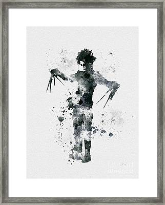 Edward Scissorhands Framed Print by Rebecca Jenkins