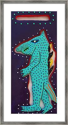 Edward The Walking Ardvark Framed Print by Robert Margetts