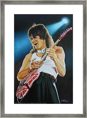 Edward Van Halen Framed Print