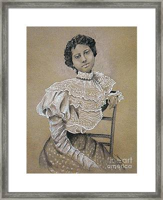 Edwardian Ebony Elegance -- Portrait Of Edwardian African-american Woman Framed Print
