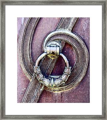 Edwardian Era Door Handle Framed Print