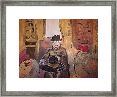 Framed Print featuring the painting Edwardian Hats by Judith Desrosiers