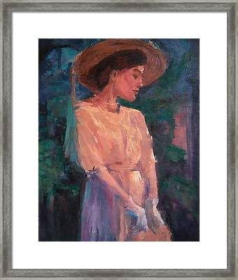 Edwardian Katie #1 Framed Print by Brian Kardell