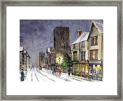 Christs Birthday Framed Print featuring the painting Edwardian Oxford by Mike Lester