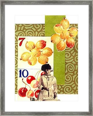 Edwardian Pie Lady Framed Print by Marcia Masino