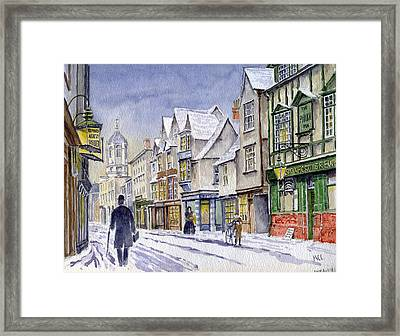 Edwardian St. Aldates. Oxford Uk Framed Print