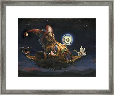 Edwin And Norbert At It Again Framed Print by Jeff Brimley