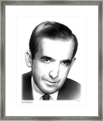 Edwin R. Murrow Framed Print by Greg Joens