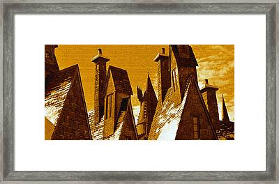 Hogsmeade Village Roof Tops Framed Print by David Lee Thompson