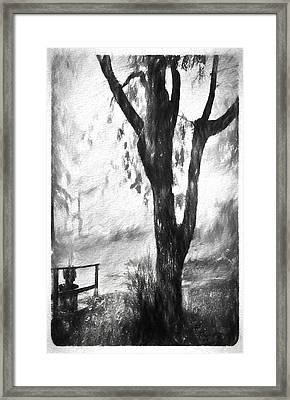 Tree In The Mist Framed Print
