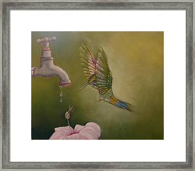 Framed Print featuring the painting Eenny Meenie Miney Moe by Ceci Watson