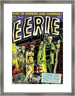 Eerie Comic Book Cover Restored Framed Print