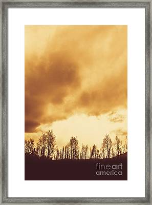 Eerie Fields In Silhouette Framed Print by Jorgo Photography - Wall Art Gallery