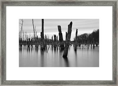 Eerie Lake Framed Print by Jennifer Ancker