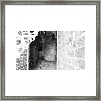 Eerie Look Inside The Martello Tower At Framed Print by Natalie Anne