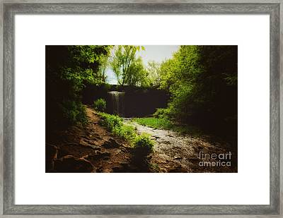 Eerie Path At Wequiock Falls Framed Print by Mark David Zahn