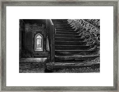 Eerie Staircase Framed Print
