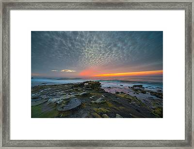 Eerie Sunset La Jolla Cove San Diego Framed Print