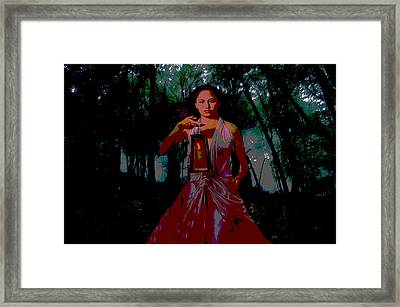 Framed Print featuring the photograph Eerie Woods by Brian Hughes
