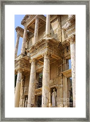 Efes Library Of Celsus Framed Print