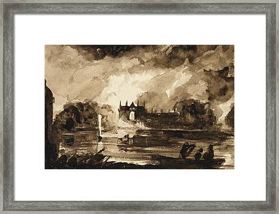 Effect For Newstead Abbey Framed Print by Thomas Cole