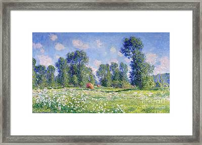 Effect Of Spring At Giverny Framed Print by Claude Monet