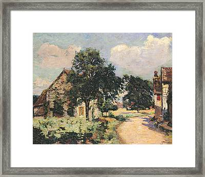 Effect Of The Sun Framed Print by Jean Baptiste Armand Guillaumin