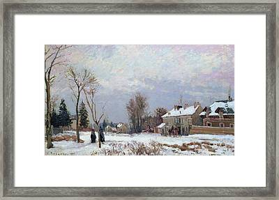 Effects Of Snow Framed Print by Camille Pissarro