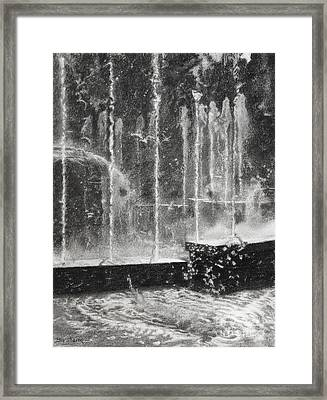 Effervescence Fountain In Milano Italy Framed Print by Kelly Borsheim