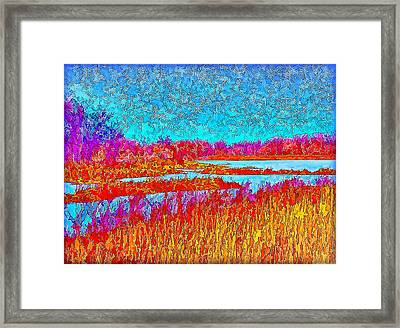 Effervescent Lakes And Sky - Park In Boulder County Colorado Framed Print