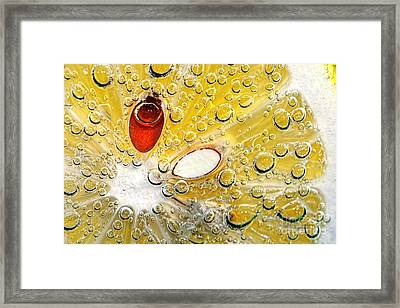 Effervescent Lemon Abstract Framed Print