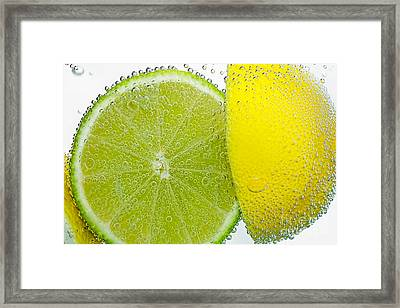 Effervescent Lime And Lemon By Kaye Menner Framed Print