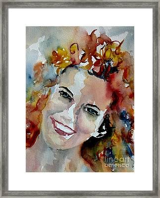 Effervescent Woman Framed Print