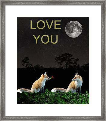 Eftalou Foxes Love You Framed Print