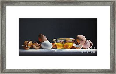 Egg And Shells #12 Framed Print by Larry Preston
