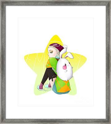 Egg Bunny  Framed Print