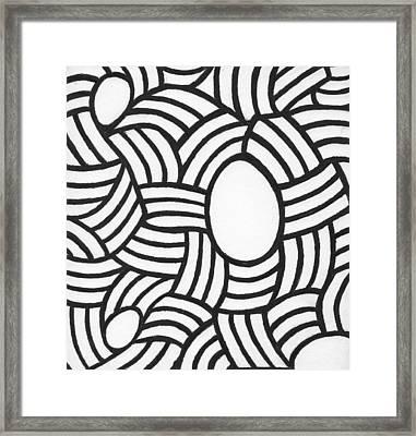Egg Drawing Mm0308 Framed Print