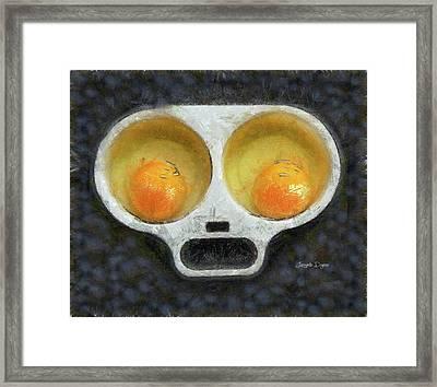 Egg Face Framed Print by Leonardo Digenio