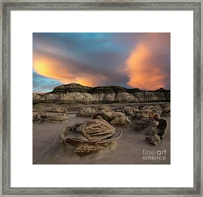 Egg Factory Bisti  De-na-zin Wilderness Framed Print by Bob Christopher
