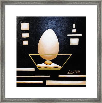 Egg In A Bowl Framed Print by Lori McPhee