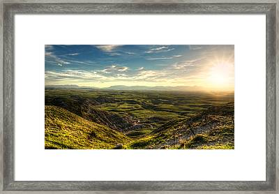 Egg Mountain Montana Framed Print