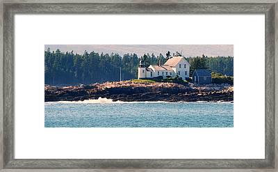 Egg Rock Lighthouse Framed Print by Steven Scott