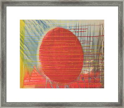 Egg Shaped Red Orb Framed Print by James Howard