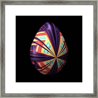 Egg With Convergent Lines Framed Print
