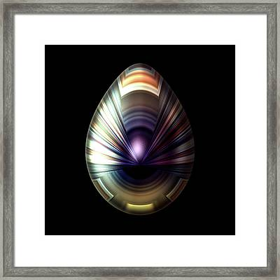 Egg With Pearlescent Cloak Framed Print