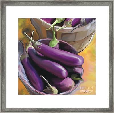 Eggplant Framed Print by Bob Salo