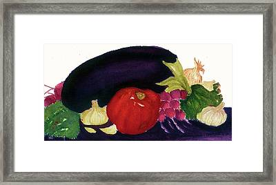 Framed Print featuring the painting Eggplant Casserole by Joan Zepf