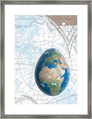 Egground The World Framed Print