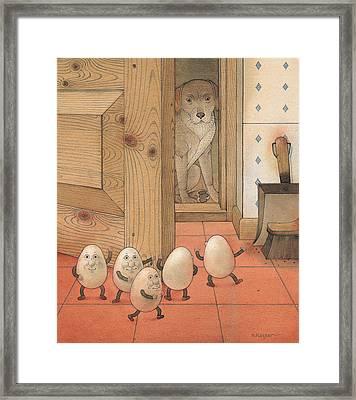 Eggs And Dog Framed Print by Kestutis Kasparavicius