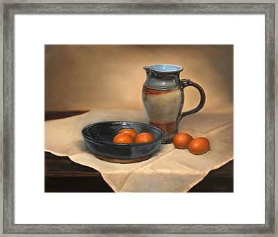 Eggs And Pitcher Framed Print
